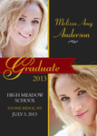 Graduation Announcement Cards - Ruby Credential