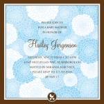 Baby Shower Invitations - Dahlia Blooms