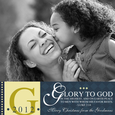 Personalized Holiday Cards, Highest Glory Design