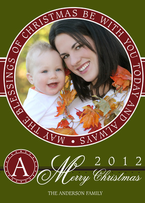 Personalized Holiday Cards, Sweet Circle Blessing Design