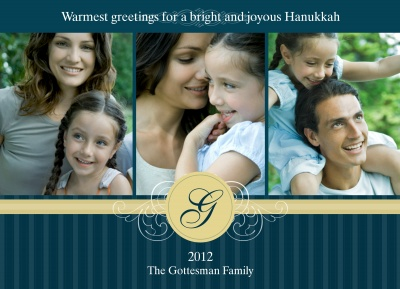 Personalized Holiday Cards, Classic Hanukkah Joy Design