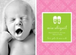 Girl Photo Birth Announcements - Sweet Slippers