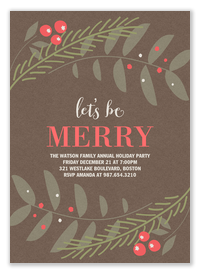 Holiday Party Invitations - Party Berries