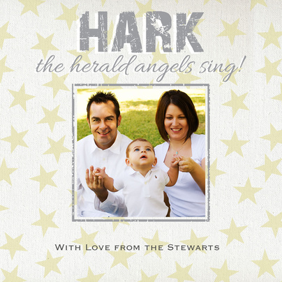 Personalized Holiday Cards, Angel Stars Design