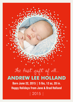 Baby Announcement for Holidays - Sweet Gift