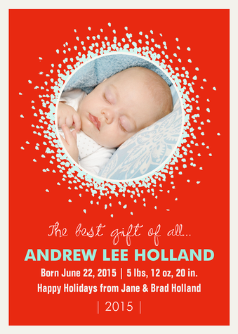 Personalized Holiday Cards, Sweet Gift Design