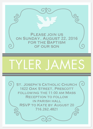 Baptism - Photo Birth Announcements