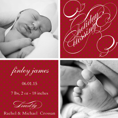 Personalized Holiday Cards, Holiday Blessing Design