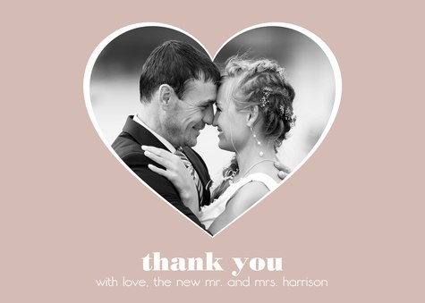 Wedding Thank You Cards, Open Hearts Design
