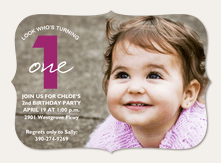 Girl Birthday Invitations - Purple One