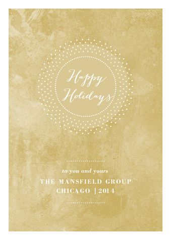 Business Holiday Cards, Gold Stone Wishes Design
