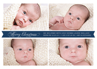Holiday Birth Announcements - Little Christmas Blessing