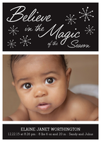 Holiday Newborn Announcement - Magic Flakes