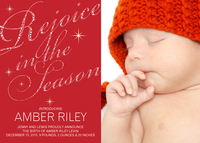 Baby Announcement for Holidays - Rejoice Star