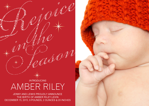 Personalized Holiday Cards, Rejoice Star Design