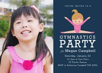 Birthday Invitations - Gym Star