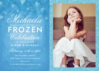 Photo Girl Birthday Invitations - Winter Princess