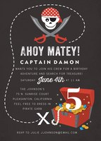 Birthday Party Invitations - Pirate Treasure