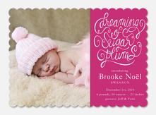 Sugar Plum Dreams -  Baby Holiday Cards
