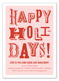 Vintage Greeting - Holiday Party Invitations