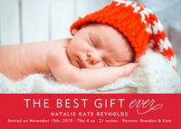 Infant Holiday Birth Card  - Best Gift Ever