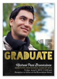 Bold Brilliance - Graduation Invitations