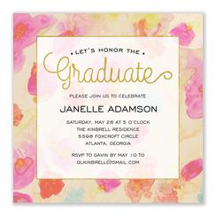 Boho Watercolor - Graduation Invitations