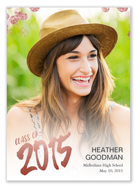 Rosegold Cascade -  Graduation Announcements