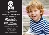 Photo Boy Birthday Invitations - Pirate Cove