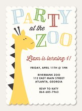 Photo Birthday Invitations - Go Wild