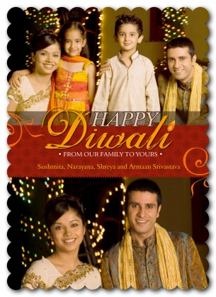 Diwali Holiday Cards, Diwali Flourish Design