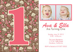 Twin Birthday Invitations - Our Twins Party Sweets