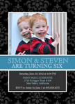 Photo Birthday Invitations - Our Jolly Boys