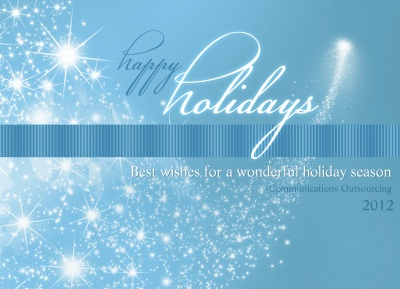 Business Holiday Cards, Star Burst Design