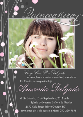 Quinceañera Invitation cards, Brillante Design