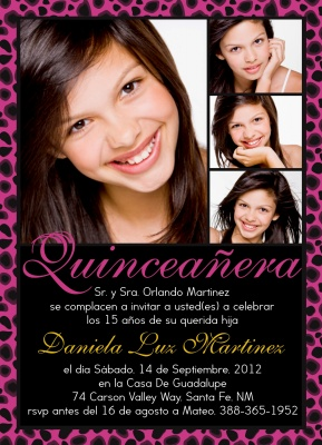Quinceañera Invitation cards, Amor Rosa Design