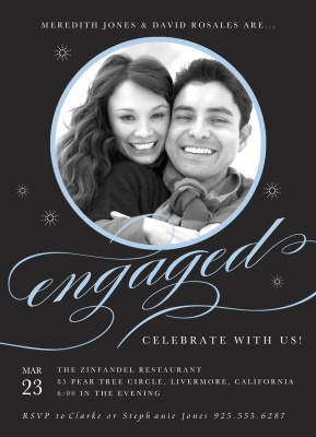 Engagement Party Invitations, Shooting Stars Design