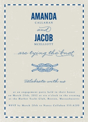 Engagement Party Invitations, Love Knot Design