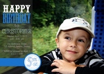 Photo Boy Birthday Invitations - Sailor Blue