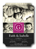 Twin Birth Announcements - Glamour Gals