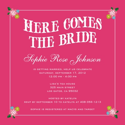 Bridal Shower Invitations, Bridal Walk Design
