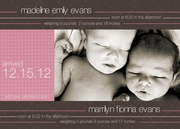 Pennant - Twin Birth Announcements