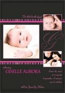 Birth Announcements for Girls - Photo Birth Announcements - Studio