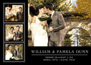 - Classic Black Four Wedding Photo Cards