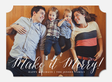 Make it Merry! - photo Christmas cards