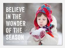 Christmas cards - Wonder of the Season