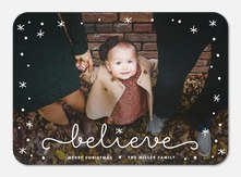 photo Christmas cards - Sparkling Signature