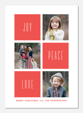Wishes of Joy, Peace & Love - photo Christmas cards