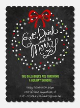 Eat, Drink & Be Merry  -  Christmas Party Invitations