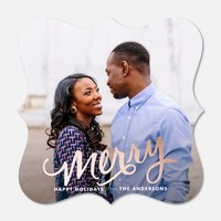 photo Christmas cards - Luxe Tidings